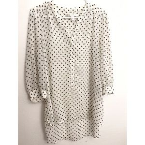 LIKE NEW Polka Dot Blouse